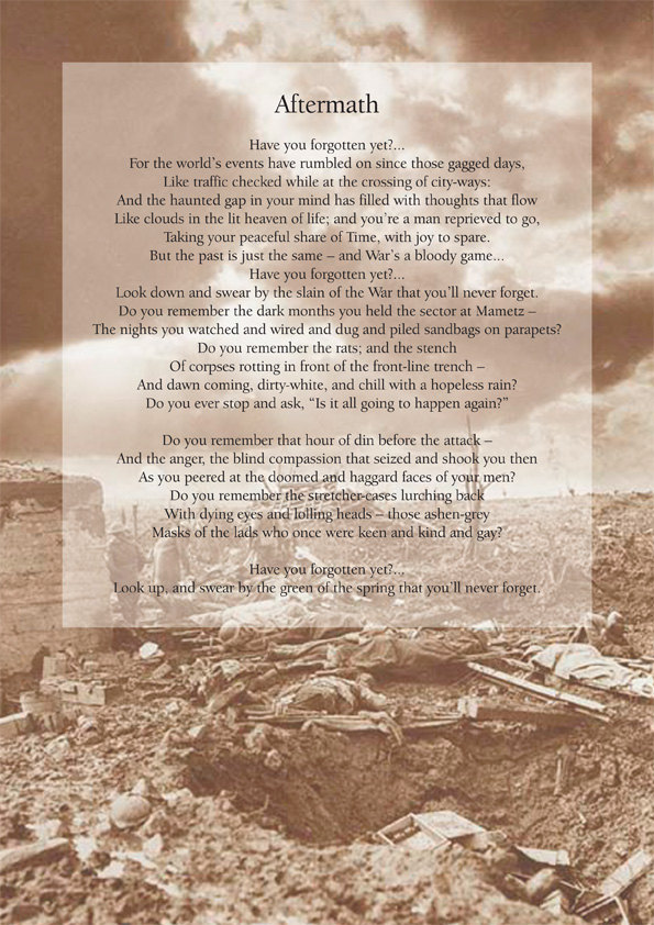 Aftermath by Siegfried Sassoon poster