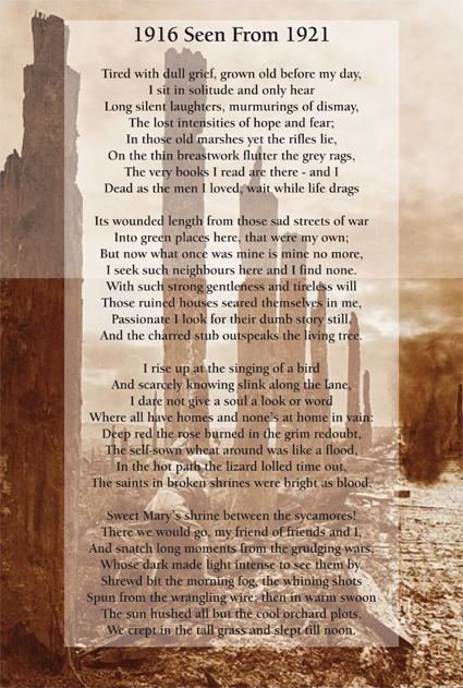 1916 Seen From 1921 by Edmund Blunden