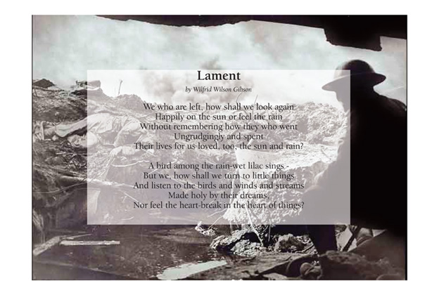 Lament by Wilfred Wilson Gibson