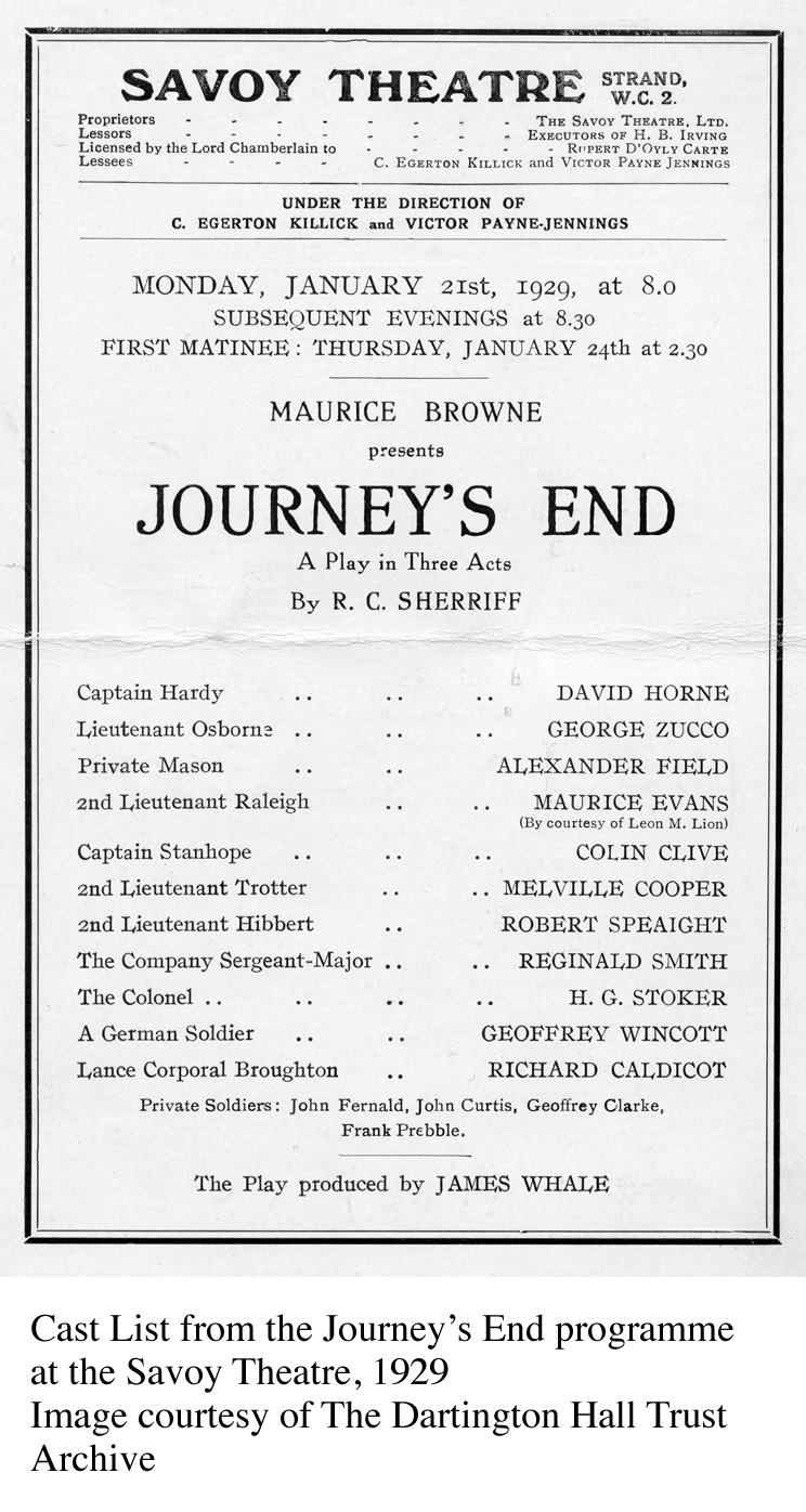 Journey's End Programme