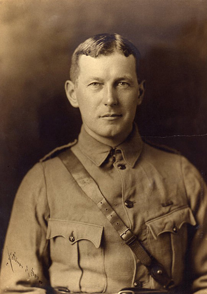 John McCrae in uniform circa 1914