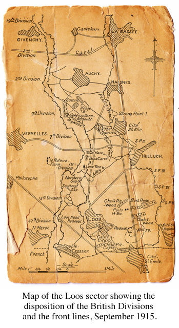 Map of Loos, 1915