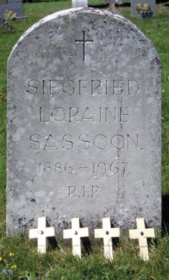 Headstone of Siegfried Loraine Sassoon, Mells Church, Somerset